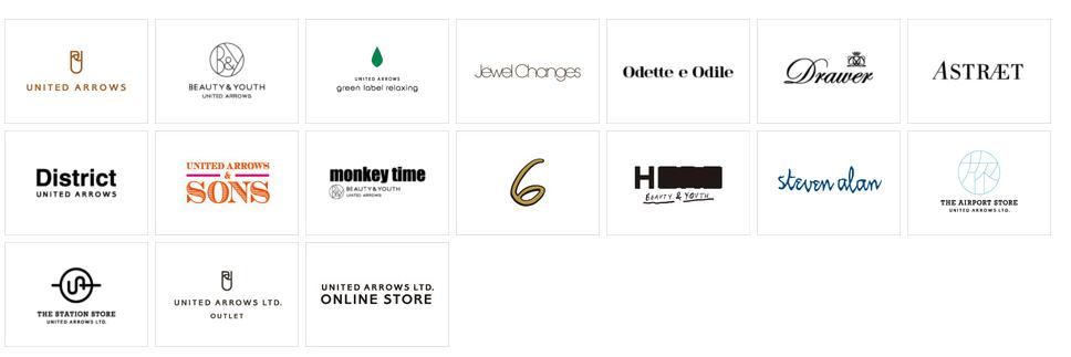 UNITED ARROWSのブランド